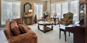 beautiful clean carpet in living room