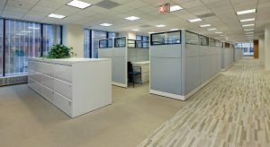 office with carpet for cleaning