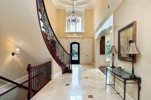 marble floor in foyer
