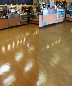 before and after hardwood cleaning by Ambrose Advanced Carpet Cleaning