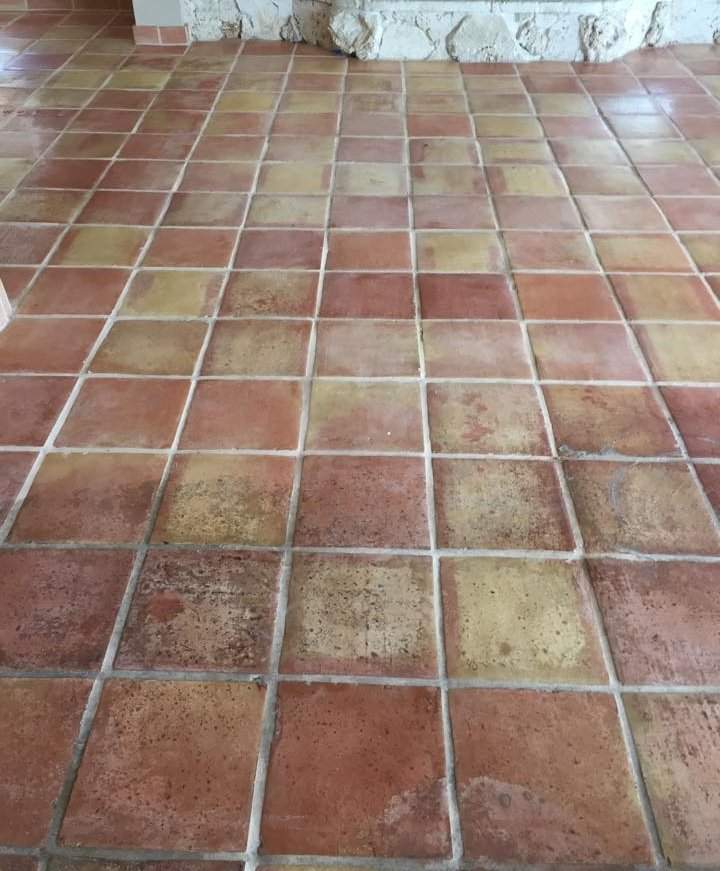 before and after tile grout cleaning service