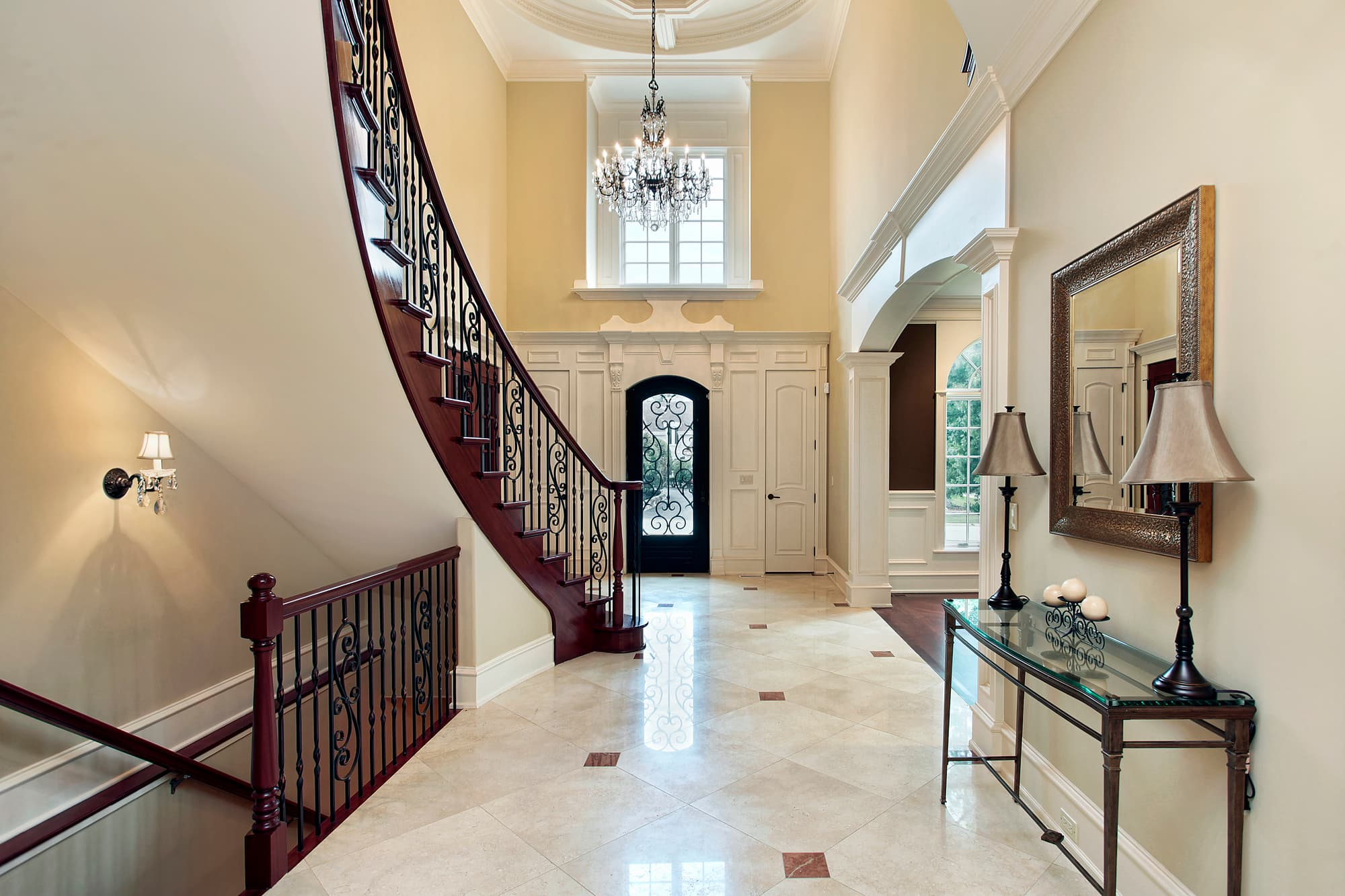 marble floor in foyer
